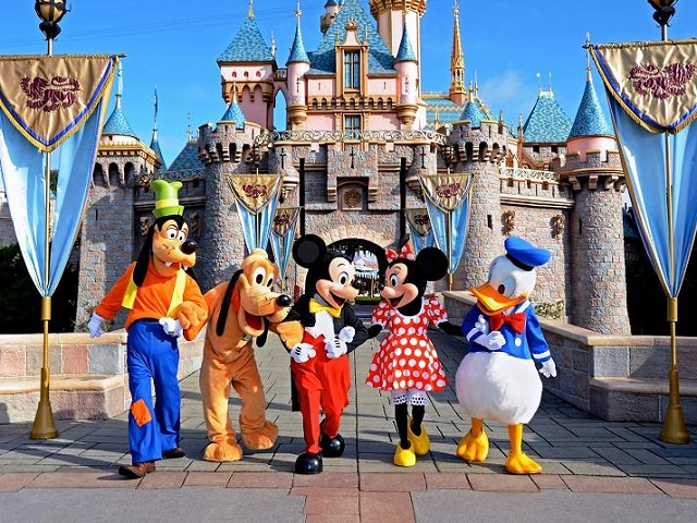 Mỹ thiên đường giải trí hàng đầu của thế giới, hấp dẫn với những nhân vật hoạt hình nổi tiếng