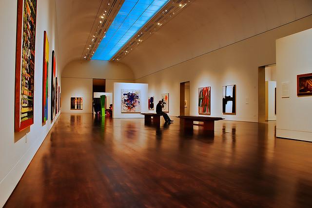 Một trong số các phòng triển lãm ở Bảo tàng Nghệ thuật Blanton