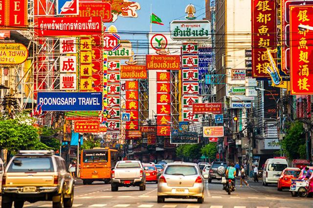 Phố Tàu Bangkok là khu vực đông người Hoa cư ngụ và sinh hoạt rất sầm uất