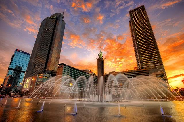 Ngắm thủ đô Jakarta lúc hoàng hôn