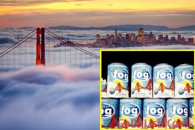"""Cầu cổng vàng xinh đẹp và sản phẩm """"sương mù đóng hộp"""" độc đáo ở San Francisco"""