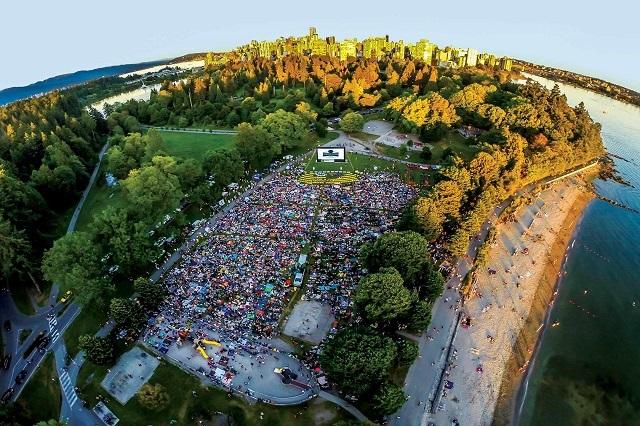 Công viên Stanley nhìn từ trên cao