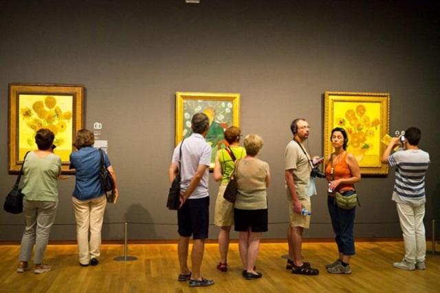 Không gian trưng bày các tác phẩm bên trong bảo tàng