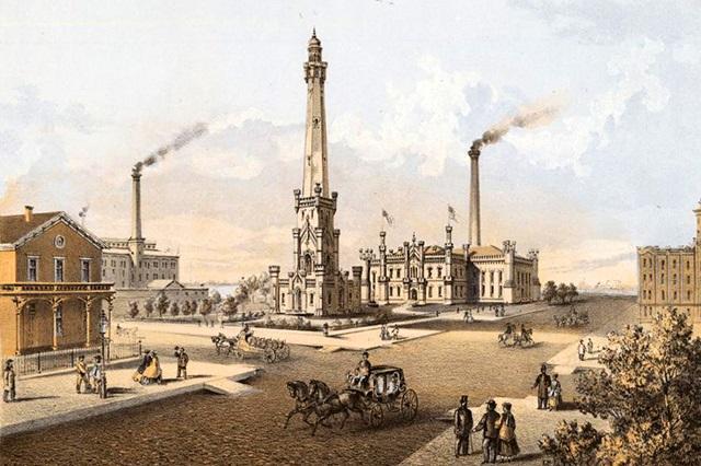 Tháp nước Chicago trong quá khứ