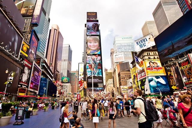 Thành phố New York luôn nhộn nhịp nên sẽ tốn thời gian cho hanh trình của bạn đấy