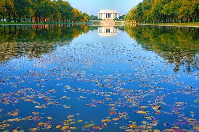 Lincoln Memorial Reflecting Pool là một điểm đến không thể bỏ qua khi tới Washington