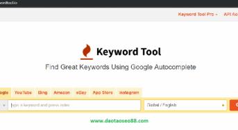 Hướng dẫn sử dụng Keywordtool.io